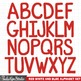 Alphabet - Red, White Blue 4th of July Clipart