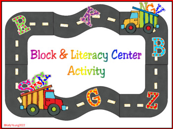 Alphabet Road Block & Literacy Center Activity