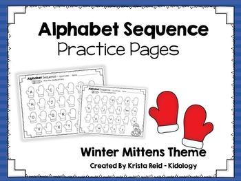 Alphabet Sequence Printables - Winter Mitten Theme