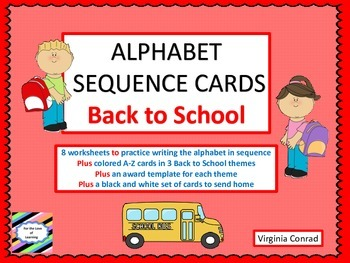 Alphabet Sequencing--3 Sets of ABC Flashcards--Back to Sch