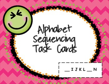Alphabet Sequencing Task Cards