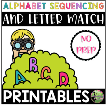 Alphabet Sequencing and Letter Match Printables