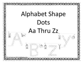Alphabet Shape Dots Aa Thru Zz