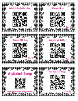 Alphabet Songs using QR Codes FREEBIE!