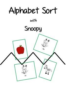 Alphabet Sort with Snoopy
