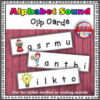 Alphabet Activity - Letter Sound Clip Cards