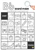 Alphabet Sound Mazes - black and white version