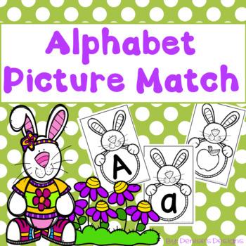 Alphabet Sound & Picture Match - Spring Bunnies