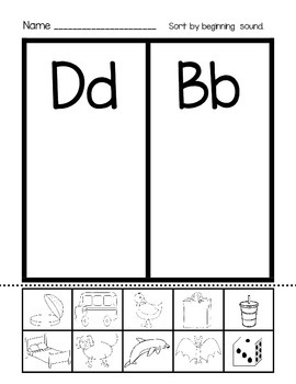 Alphabet Sound Sort: Beginning Sounds