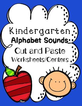 Alphabet Sounds Cut and Paste