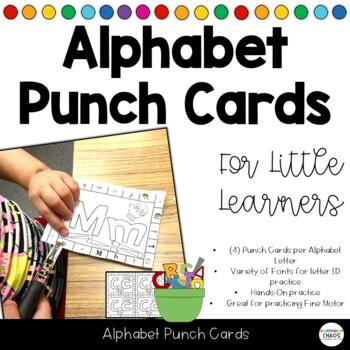 Alphabet Soup Letter Punch Cards