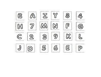 Alphabet Soup Letters of the Alphabet Cut and Paste