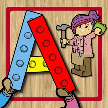 Alphabet Spin & Build - Identify & Form Uppercase + Lowerc