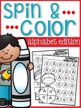 Alphabet Spin and Color Sheets