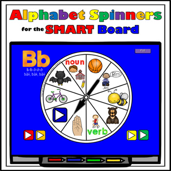 SMARTBoard Lesson - Alphabet Spinners - Letter Sounds - Mo