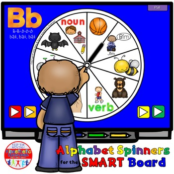 SMARTBoard Lesson: Alphabet Spinners - Letter Sounds - Mov
