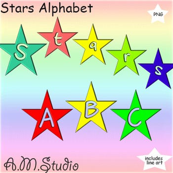 Alphabet: Stars Alphabet Letters and Numbers.