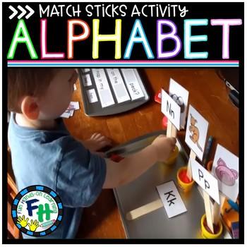 Alphabet Sticks Match Up Activity