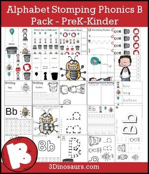 Alphabet Stomping Phonics B Pack - PreK-Kinder