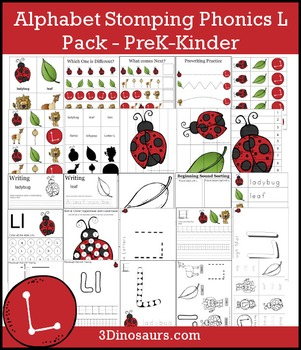Alphabet Stomping Phonics L Pack - PreK-Kinder