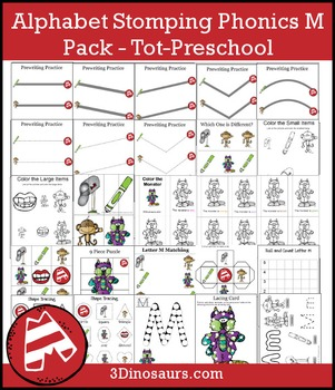 Alphabet Stomping Phonics M Pack – Tot-Preschool