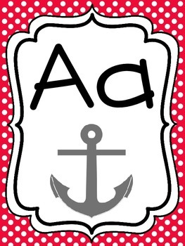 Alphabet Strip - Print and Pictures - Pirate Theme