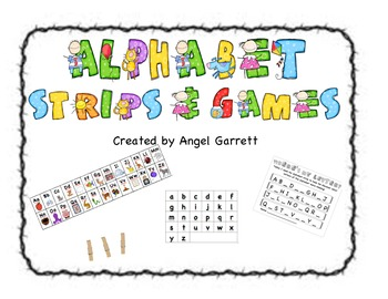 Alphabet Strips, Games and Response Sheets