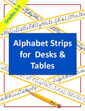 Alphabet Strips for Student Desks - Cursive, Manuscript, D