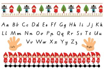 Alphabet Table Mat with Number Line