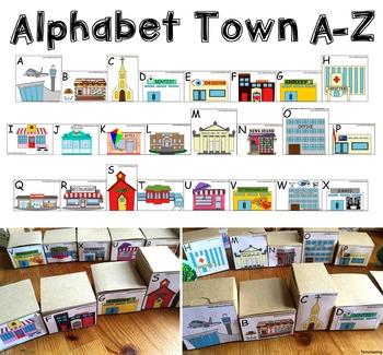 Alphabet Town: Community Buildings Alphabet Game