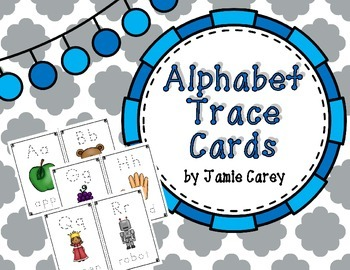 Alphabet Trace Cards