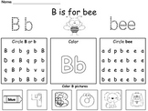 Kindergarten / First  Grade -  Alphabet Trace, Find, and Read