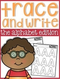 Alphabet Trace and Write Practice Sheets