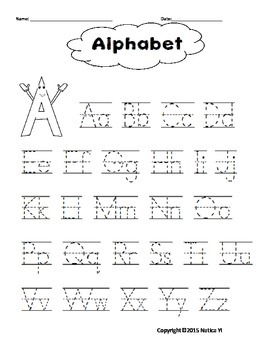 Alphabet Trace in English