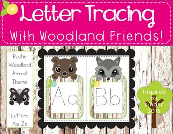 Alphabet Tracing Cards (Woodland Animal Theme)