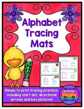 Alphabet Tracing Mats - Handwriting