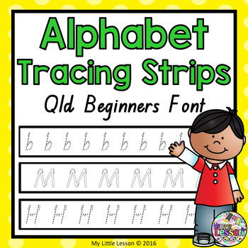 Alphabet Tracing Strips - Qld Beginners Font