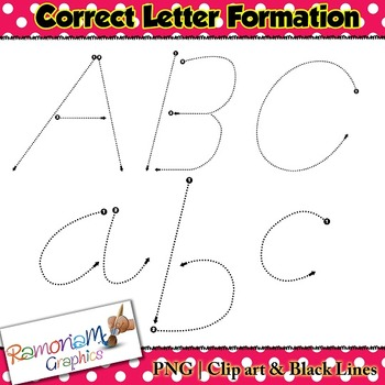 Alphabet Tracing dot letters: D'Nealian Style correct form