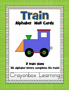 Alphabet Train Word Wall Cards - 2 Sets