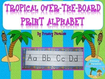 Alphabet Tropical Theme