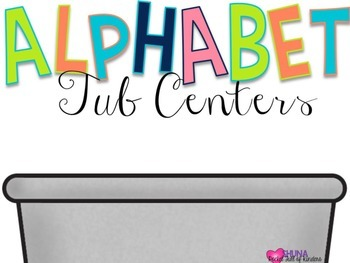 Alphabet Tubs {Low Prep Centers}