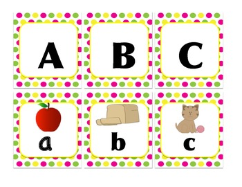 Alphabet Upper and Lower and Initial Sound Match or Memory