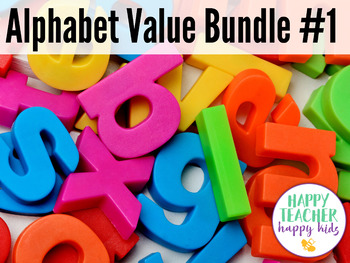 Alphabet Value Bundle #1: Letters A-M, Letter of the Week, RTI