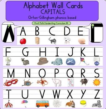 Alphabet Wall Cards - CAPITALS: Orton-Gillingham phonics based