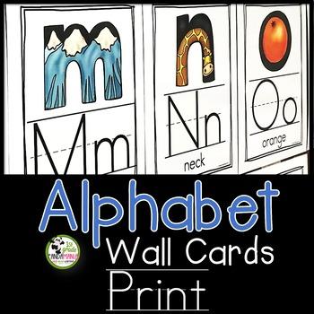 Alphabet Wall Cards {Print/Traditional Manuscript}