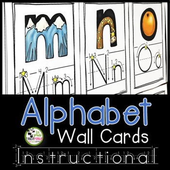 Alphabet Wall Cards {Print/Traditional Manuscript with Ins