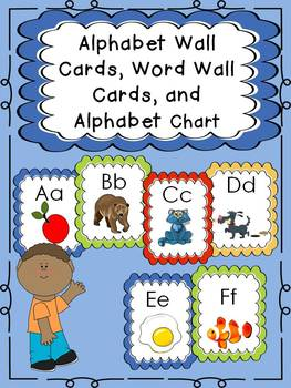 Alphabet Wall Cards, Word Wall Cards, Sorting Cards, and A