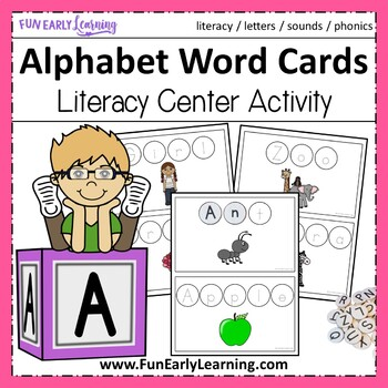 Alphabet Word Cards - Hands-on Literacy Activity {Common Core}