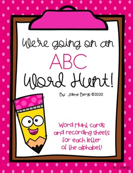 Alphabet Word Hunt Cards with Recording Sheets