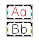 Word Wall Alphabet Cards - Chevron Border